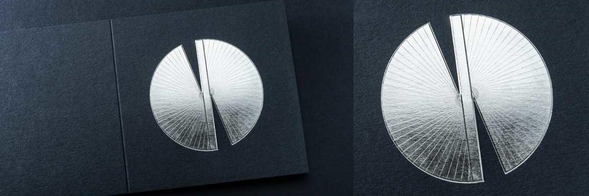2021 Carte de voeux modèle Butterfly11 de la collection intaglio