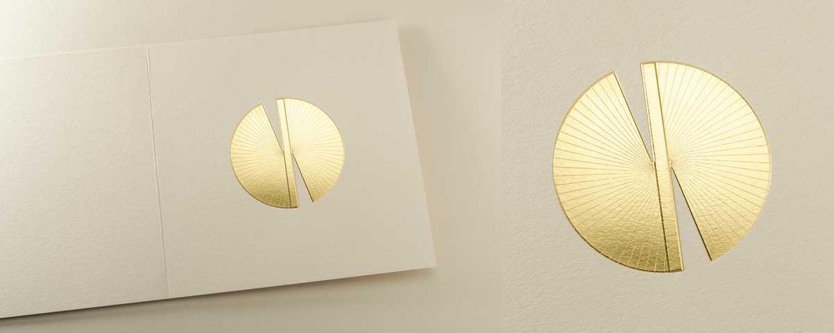 2021 Carte de voeux modèle Butterfly 16 de la collection intaglio