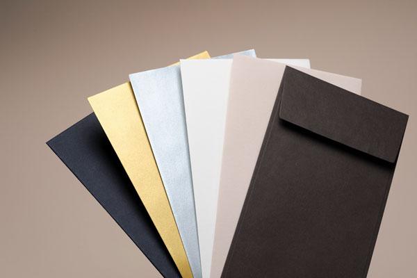 2021 Carte de voeux Intaglio, la photo des couleurs des enveloppes au format 11 x 22