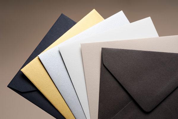 2021 Carte de voeux Intaglio, la photo des couleurs des enveloppes au format 11 x11