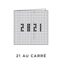 2021 Carte de voeux picto du modèle 21 au Carré de la collection intaglio