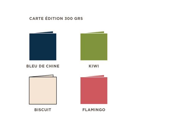 2021 Carte de voeux Intaglio, les couleurs des cartes de la collection