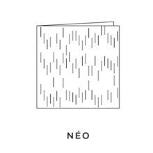 2021 Carte de voeux picto du modèle Néo de la collection intaglio