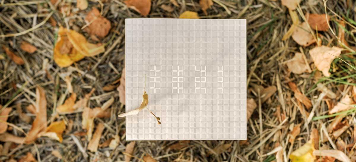 Photo de la Carte de voeux modèle 21auCarré de la collection intaglio 2021
