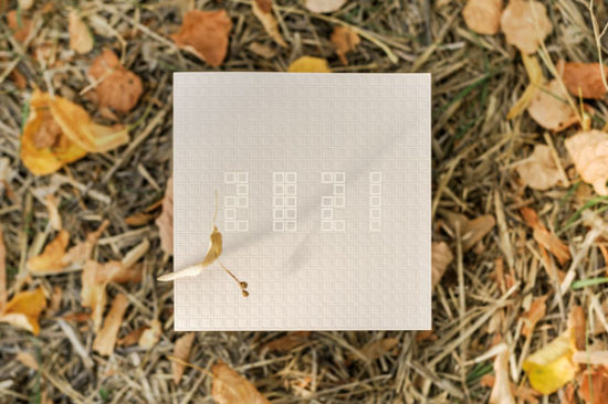 Carte de voeux modèle 21auCarré de la collection intaglio 2021