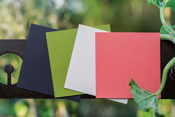 Carte de voeux palettes des couleurs de la collection intaglio 2021