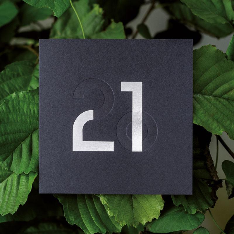 Photo de la Carte de voeux modèle Signe de la collection intaglio 2021