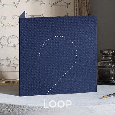 Présentation de la carte de voeux 2020 modèle LOOP conçue et imprimée par Intaglio
