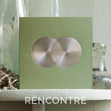 Présentation de la carte de voeux 2020 modèle RENCONTRE conçue et imprimée par Intaglio