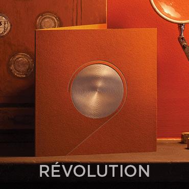 Présentation de la carte de voeux 2020 modèle REVOLUTION conçue et imprimée par Intaglio