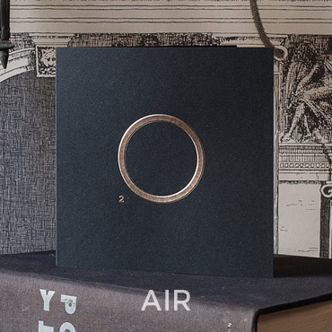Présentation de la carte de voeux 2020 modèle AIR conçue et imprimée par Intaglio