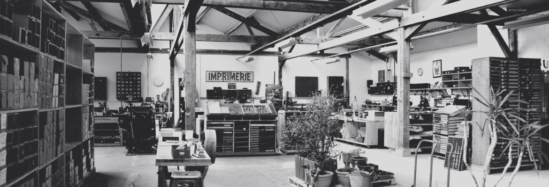 Atelier d'imprimerie à Semur en Auxois