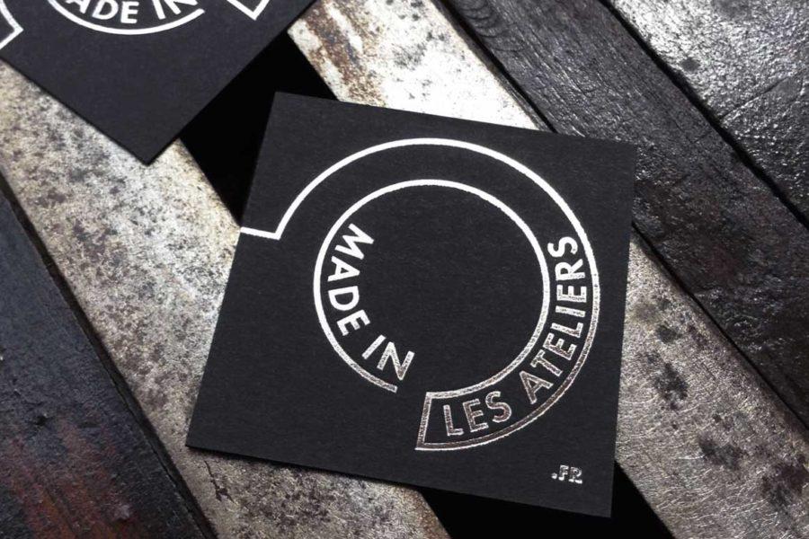 Carte De Visite Noire Epaisse Imprimee En Gravure Acier Par Imprimerie Intaglio Pour Made In