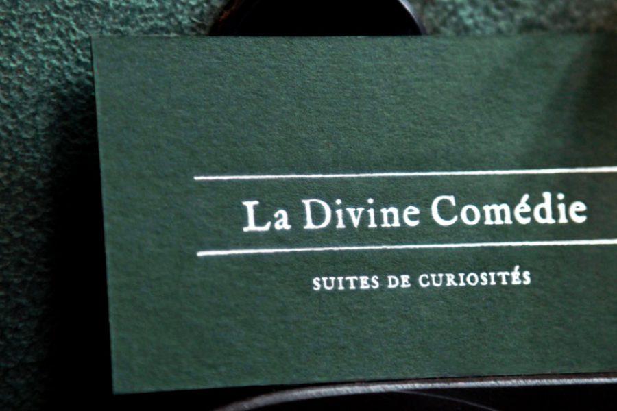 Carte de visite imprimerie intaglio paris gravure argent carte verte damascus Divine Comédie