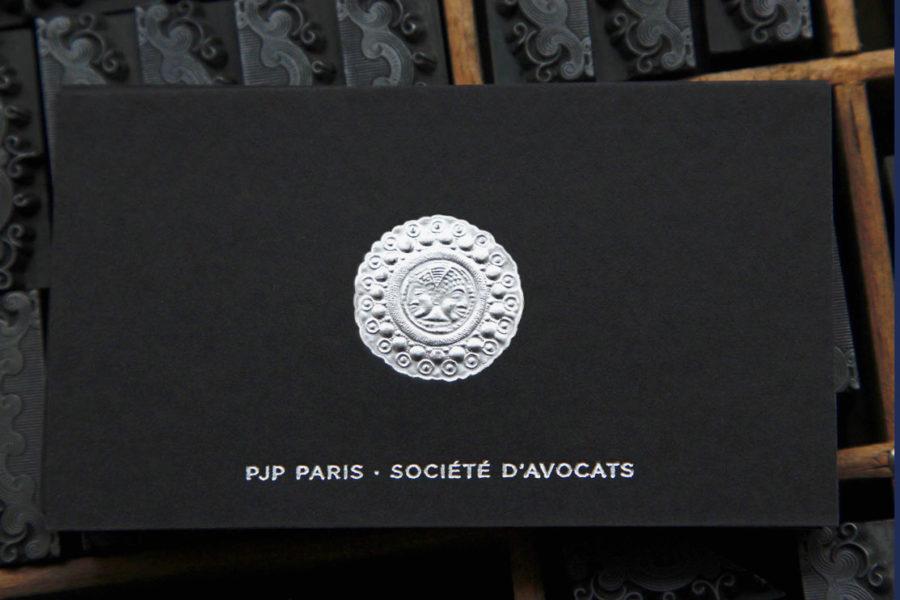 Carte De Visite Medaillon Grave Argent Avocat Imprimerie Intaglio
