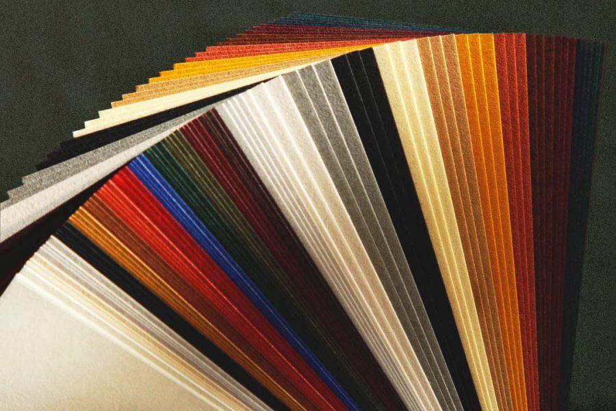 Carte de visite letterpress palette papier takeo