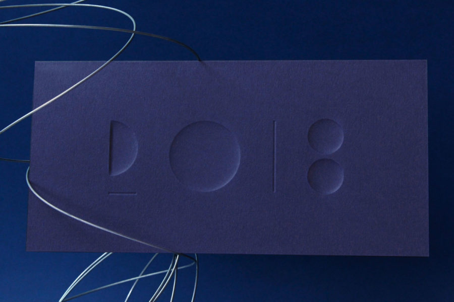 Carte de vœux céramique Bleu