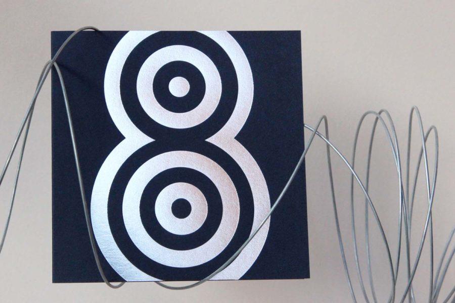 Carte de vœux Pop Height Argent Bleu