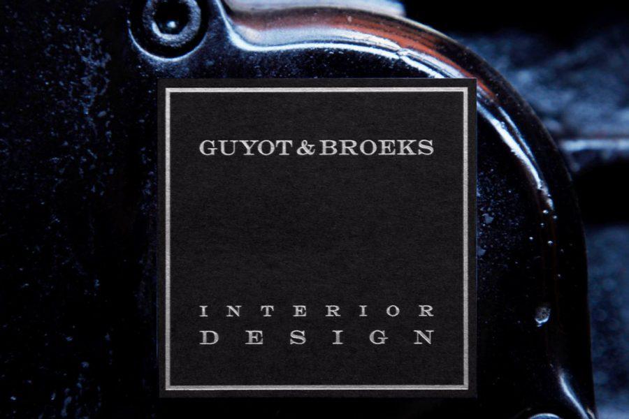 Dorure à chaud sur carte de visite Guyot Broeks