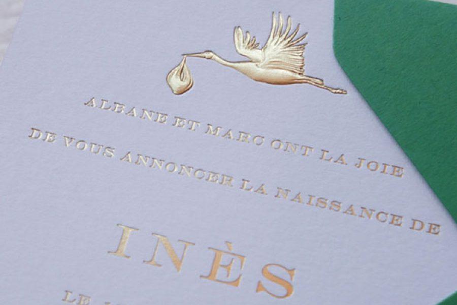 Les Papiers Utilisés En Faire Part De Naissance De Luxe Intaglio Paris